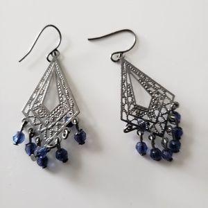 VINTAGE  ☆ Dangle Bead Earrings, PRETTY!